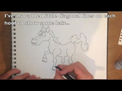 How to Draw a Horse - Easy Step by Step Tutorial