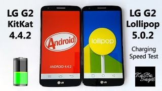 LG G2 KitKat 4.4.2 vs Lollipop 5.0.2 - Battery Charging Speed Test