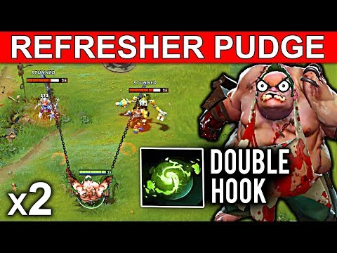 NEW REFRESHER PUDGE PATCH 7.08 DOTA 2 NEW META GAMEPLAY #19 (DOUBLE HOOK FUNNY MOMENTS)