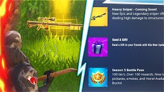 *Royale Bomber Giveaway* GIFTING SYSTEM + New HEAVY SNIPER Fortnite Update! (New Fortnite Update)