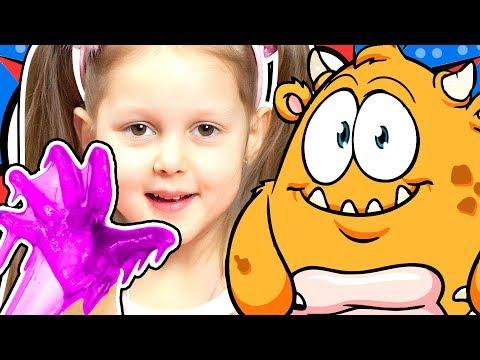 СВОИМИ РУКАМИ Делаем Слизь для Рук и Красим Наряды для Куклы Барби Игры Осмо Видео для детей