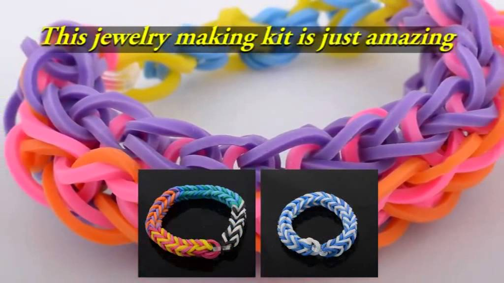 Rubber band bracelet maker kit