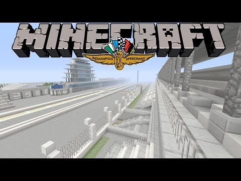 Minecraft Indianapolis Motor Speedway Tour-Minecraft Mega Build