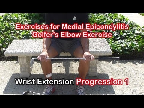 Physical Therapy Exercises for Medial Epicondylitis (Golfers Elbow)