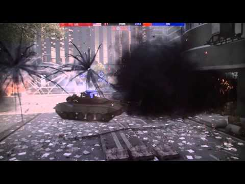 BF4 Beta Spectator Mode    Tank Battles in downtown SHANGHAI