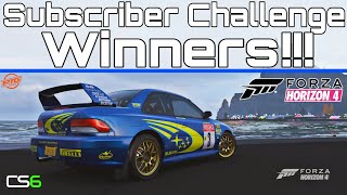 CS6 Subscriber Challenge #1 Winners - Forza Horizon 4