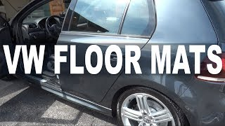 Swapping The Golf R Floor Mats - Rubber OR Carpet!?