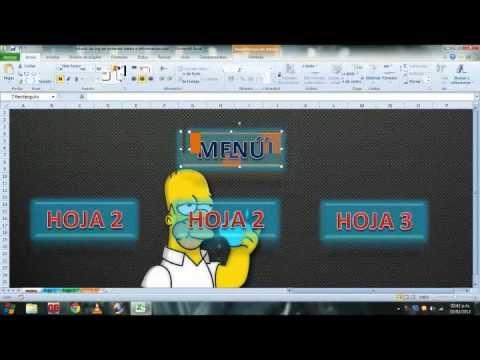 Como Crear un Menú en Excel (facil de hacer)