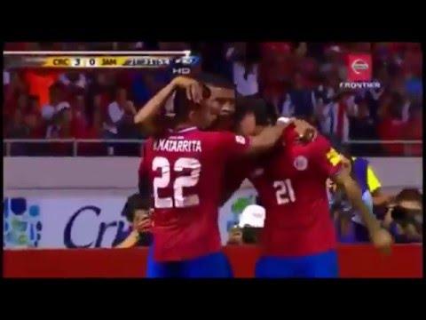Costa Rica 3 Jamaica 0. Narracion por Johnny Gonzalez