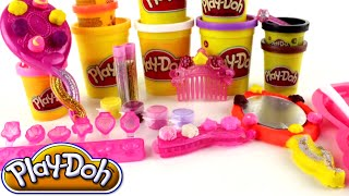 ♥ Disney Hairbrush & Accessorize Play Doh Hair Set for Girls Playdouh with Gold and Silver Glitter