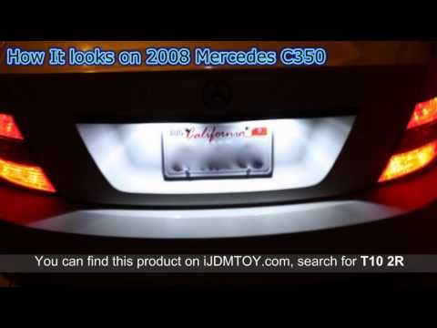 LED License Plate Lights on 2008 Mercedes c350 Product Reviews