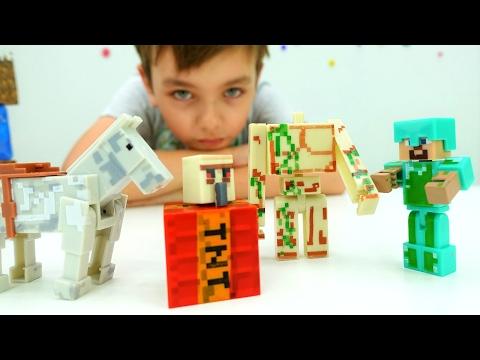 Лего Майнкрафт и тайна секретной комнаты! Майнкрафт мультик