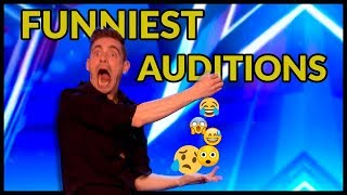 Top 10 *FUNNIEST & UNEXPECTED* AUDITIONS EVER that Will Make You LAUGH on BRITAIN'S GOT TALENT :)