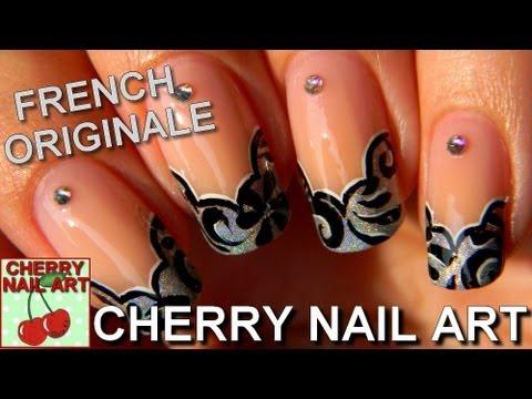 Nail Art Tuto French Originale Motifs Peinture Acrylique Youtube