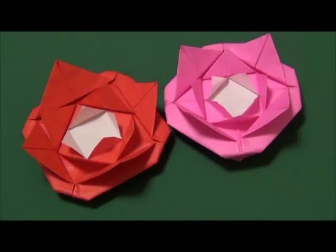 How To Make Origami Rose Youtube
