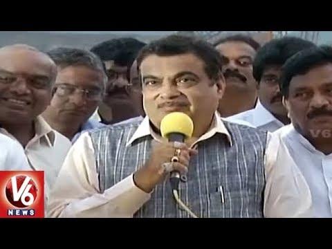 Union Minister Nitin Gadkari Inspects Polavaram Project Works | AP | V6 News