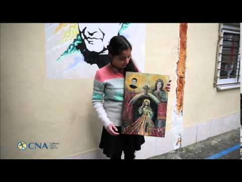 Syrian Refugee, Sara, 14, Before Meeting Pope