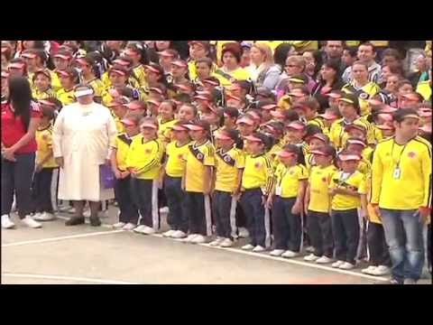 Inauguración Olimpiadas deportivas en el colegio La Presentación Fátima - policiadecolombia