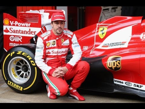Ferrari's Alonso Debuts at Testing in Barcelona | F1 2013