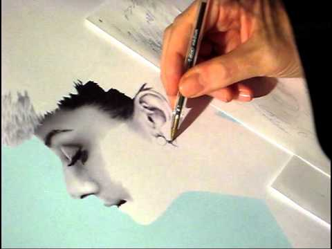 Audrey Hepburn - pen drawing (James Mylne)