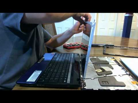 Laptop screen replacement / How to replace laptop screen [Gateway NV53A24u].WMV