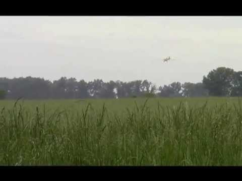 Farm Air's Crop Duster Spraying Wheat