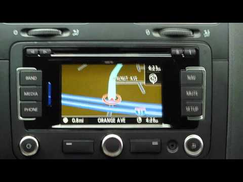 Volkswagen RNS315 GPS system demo, review, and tips in a VW Jetta TDI
