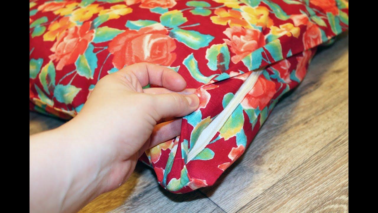 Как сшить подушку с молнией своими руками 98