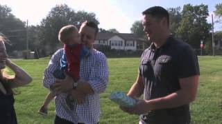 Michigan toddler meets stranger who helped save his life