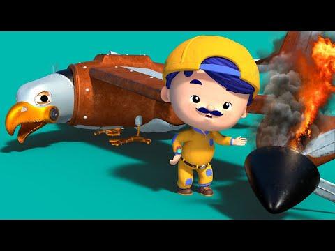 AnimaCars - EAGLE PLAN stürzt am Strand ab  - Zeichentrickfilme für Kinder mit Lastwagen & Tieren