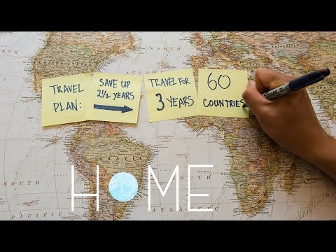Guy backpacks around the world for 3 years to 60 different countries in 3 minutes