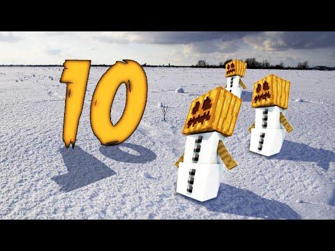 Minecraft: 10 фактов и секретов про Снеговиков! Майнкрафт 1.9