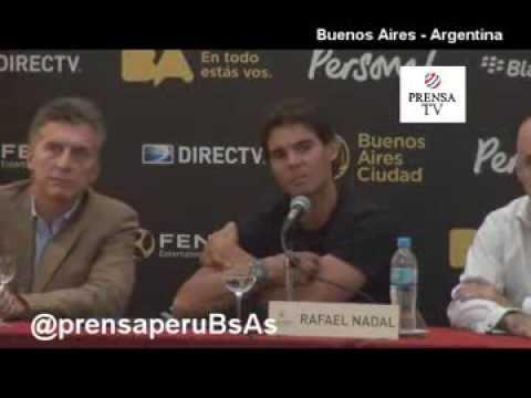 Rafael Nadal en Argentina 2013 Conferencia Completa