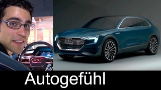 2018 Audi Q6 e-tron PREVIEW as Audi e-tron quattro concept electric 500km range
