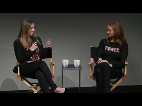 Lily Cole with Chelsea Clinton  Meet the Developer
