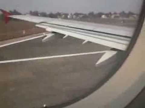 Air India Airbus A321 take off from runway 26, Dabolim Airport, Goa