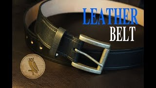 Making a Leather Belt