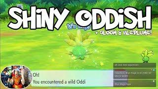 ☆ SHINY ODDISH ☆ SHINY GLOOM ☆ SHINY VILEPLUME ☆ ( Pokemon Let's Go Shiny Reaction & Evolution! )