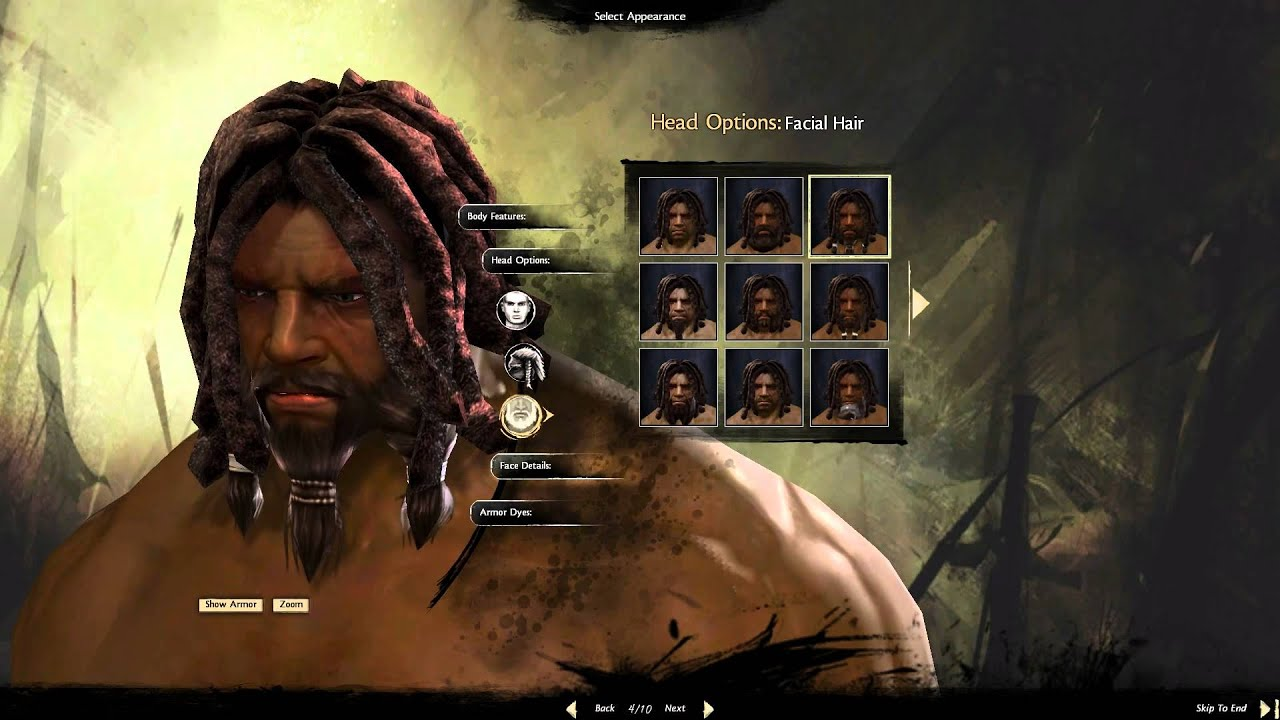 Guild Wars 2 Character Creator Norn Male YouTube