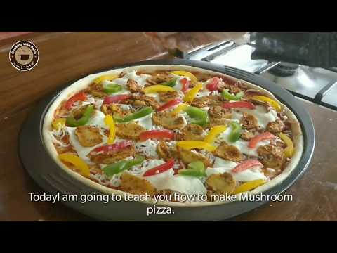 Mushroom Pizza Recipe - How to make pizza in Electric Oven?