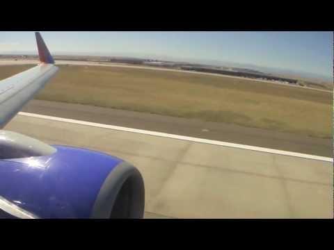 Southwest Airlines B737-7H4 Landing In Denver