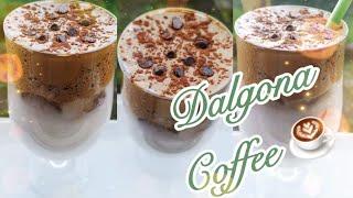 Dalgona coffee    Dalgona coffee remix   viral Korean coffee   How to make whipped coffee trend    