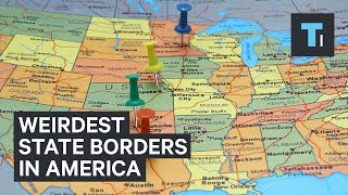 How the 5 weirdest state borders in America were created