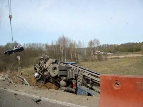 Авария на Киевском шоссе, accident on outer Moscow motorway