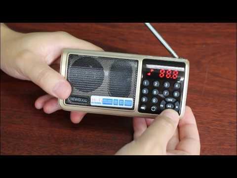 NEWGOOD Portable Radio Speaker Mp3 Player with Flashlight,USB DISK,SD CARD Music playing