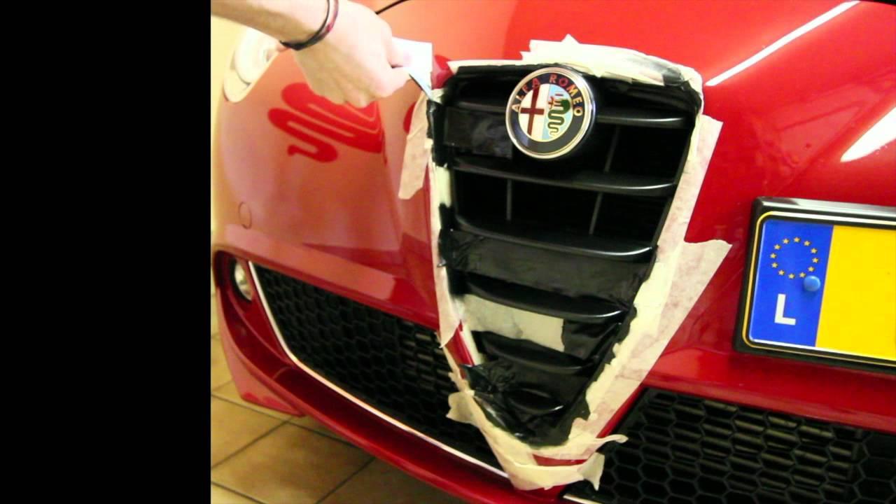 Plasti Dip on Alfa Romeo MiTo Front Grill GTA Style and ...
