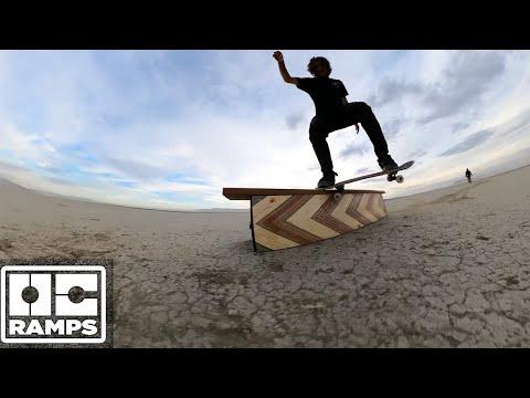 Skateboarding on Salt Flats in the desert!
