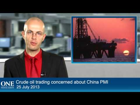 Crude oil trading concerned about China PMI