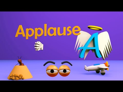 VIDS for KIDS in 3d (HD) - Alphabet for Children, Learn Letter A in English - AApV
