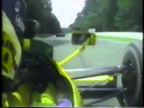 An onboard lap around the Hockenheimring with Derek Warwick's V12 Lotus Lamborghini, during the 1990 German Grand Prix.